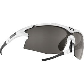 Bliz Tempo M12 Smallface Occhiali, white/smoke with silver mirror